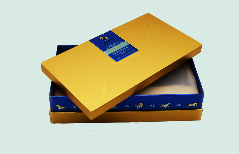 golden kraft paper folding box
