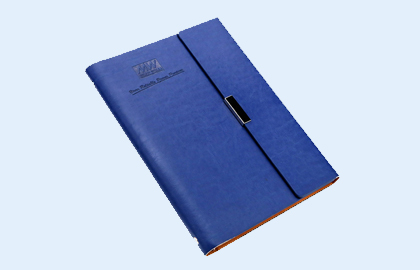 Soft leather notebook